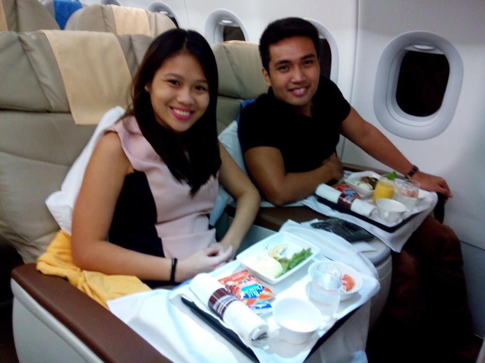 Eriko and I on our way to Hong kong