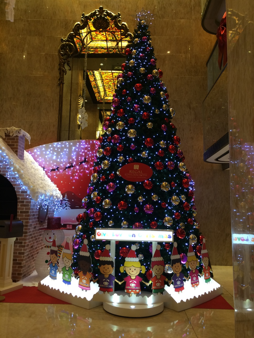 Our Hotel. Regal Kowloon. It had a really huge Christmas Tree.
