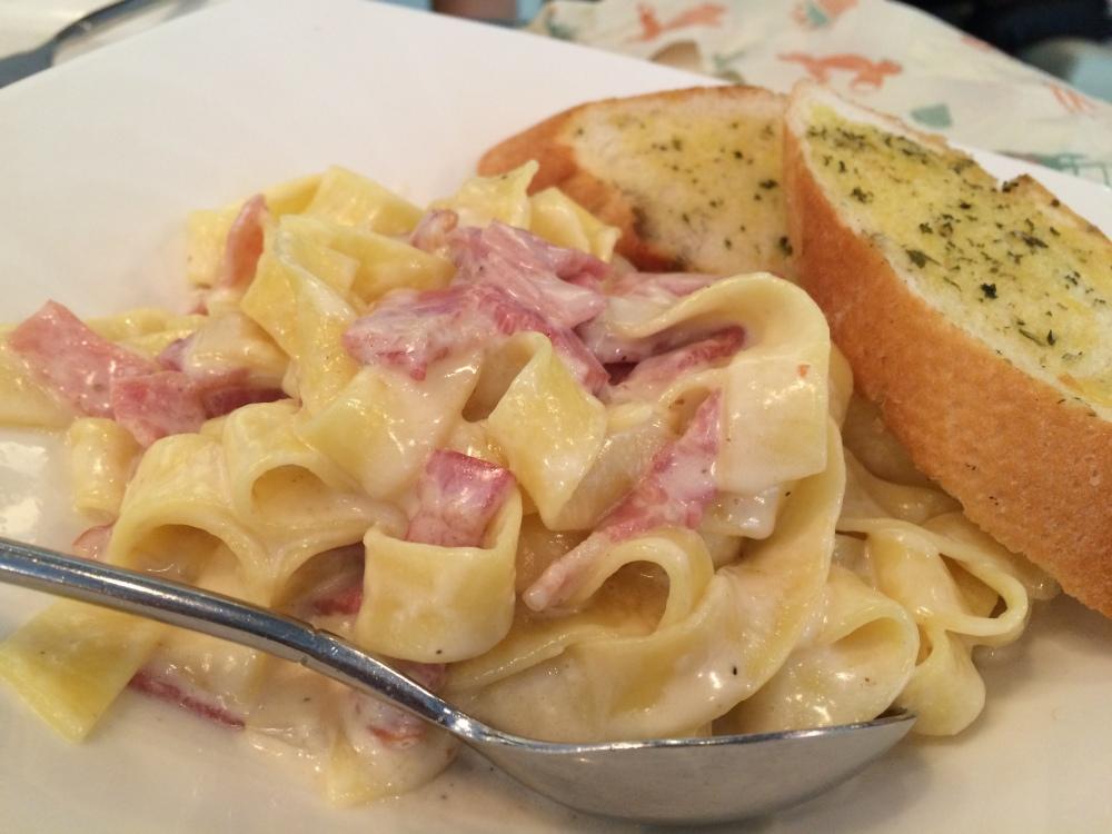 Carbonara! the pasta was freshly made!