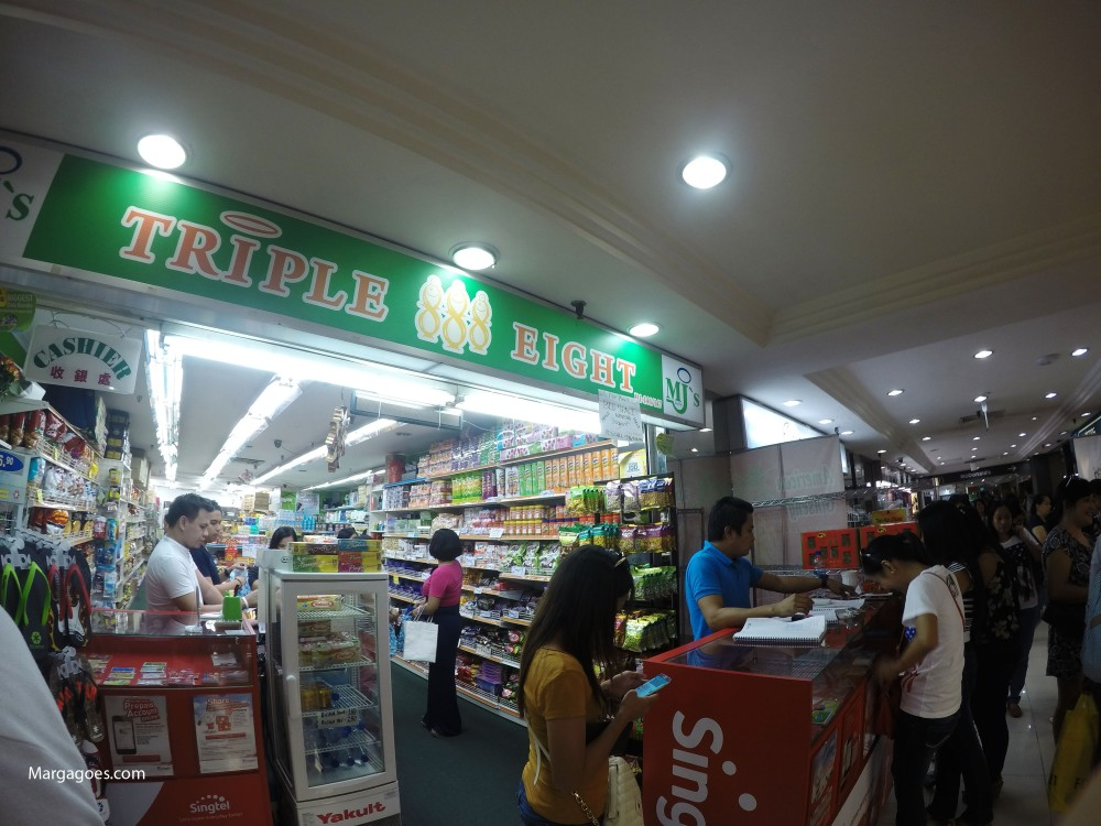 Lucky Plaza. Full of Pinoys. Pinoy food, products, etc.