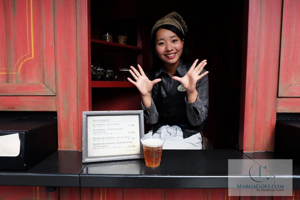 Butter beer plus mug is 1200 YEN