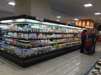 I was in heaven. The grocery was so huge!