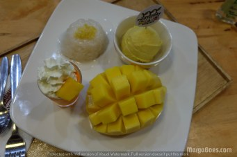 This is another version of their mango sticky rice served with ice cream