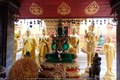 The famous Emerald Buddha statue