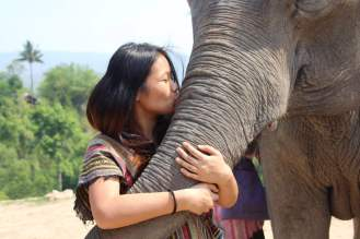 A kiss for my elephant!
