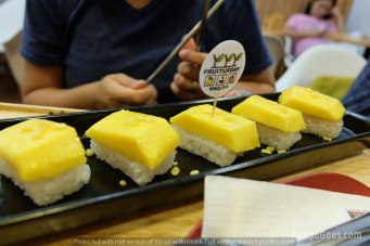 Their sushi mango sticky rice was so good!