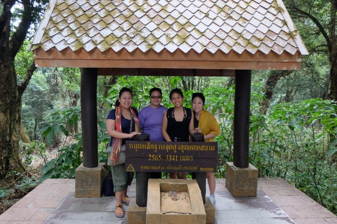 We reached the highest point in Thailand!