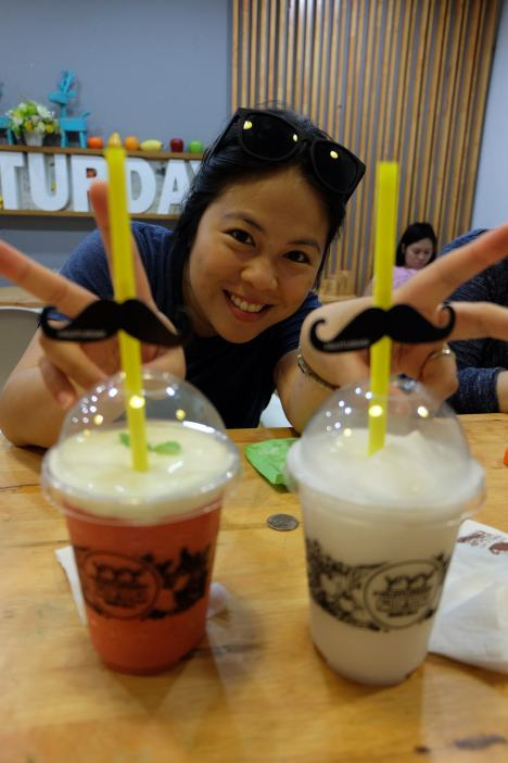 Their cups come with mustache straws