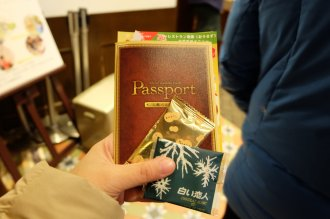 You get two free chocolates with the passport