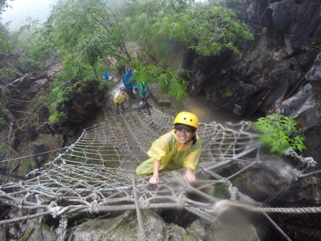 You'll climb lots of ropes